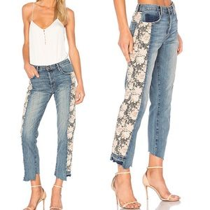 Current Elliott Floral Step Hem Jeans
